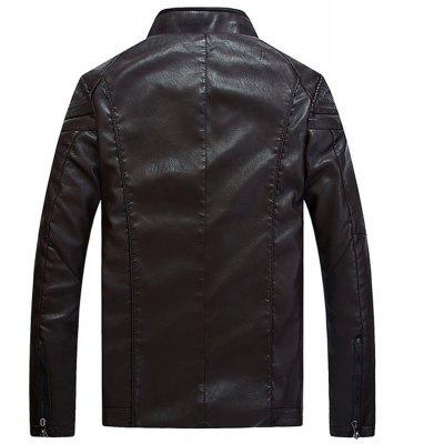 Faux Leather Thicken Warm Pu Leather CoatsMens Jackets &amp; Coats<br>Faux Leather Thicken Warm Pu Leather Coats<br><br>Clothes Type: Leather &amp; Suede<br>Collar: Stand Collar<br>Material: Faux Leather<br>Package Contents: 1XJacket<br>Season: Fall<br>Shirt Length: Regular<br>Sleeve Length: Long Sleeves<br>Style: Casual<br>Weight: 0.8100kg