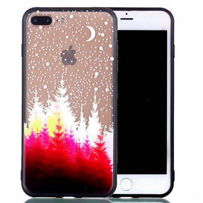 for Iphone 7 Plus Relievo Red Forest Soft Clear TPU Phone Casing Mobile Smartphone Cover Shell Case chinese new year series soft tpu cover for iphone 7 plus blessing