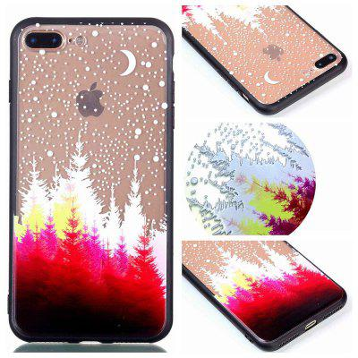 per Iphone 8 Plus Relievo Red Forest Soft Clear TPU cassa del telefono mobile Cover per smartphone