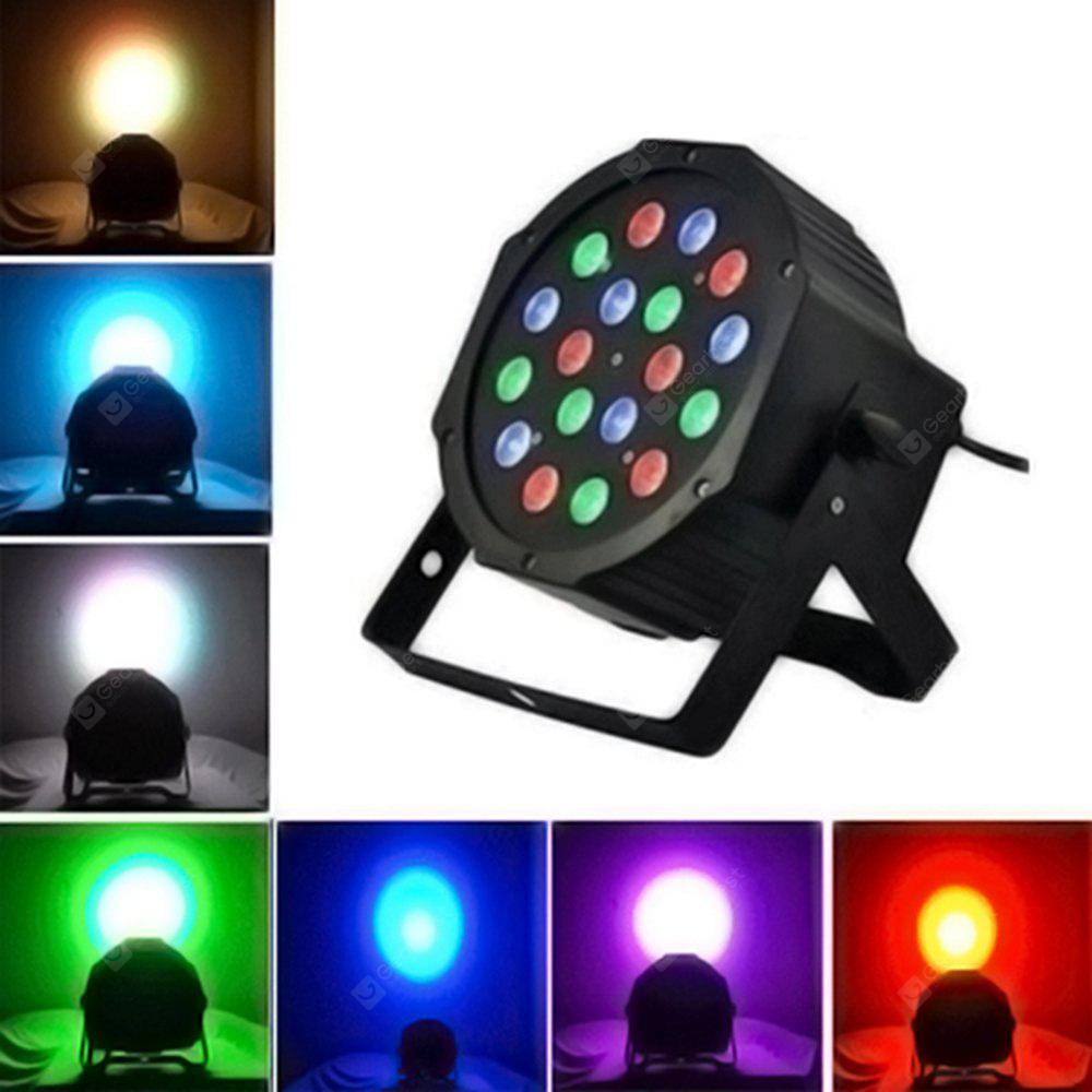 BLACK 18 Led Stage Light RGB Par Lamp for Wedding Party Disco Club With DMX512 Master Slave Flat DJ Equipments Controller