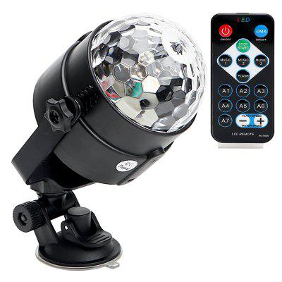 Remote RGB LED Crystal Magic Rotating Ball Stage Light