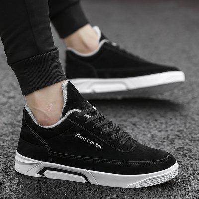 New Solid Color High Add Plus Cotton ShoesMen's Sneakers<br>New Solid Color High Add Plus Cotton Shoes<br><br>Available Size: 39-44<br>Closure Type: Lace-Up<br>Embellishment: None<br>Gender: For Men<br>Outsole Material: Rubber<br>Package Contents: 1xshoes(pair)<br>Pattern Type: Solid<br>Season: Winter, Spring/Fall<br>Toe Shape: Round Toe<br>Toe Style: Closed Toe<br>Upper Material: Flock<br>Weight: 1.5840kg