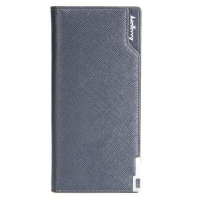 Baellerry Creative Long Casual Bussiness Trifold PU Leather Wallet Credit Card Holder