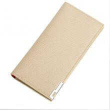 Baellerry Long Ultra Thin Soft Leather Bifold Wallet Durable Credit Card Holder for Men
