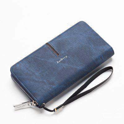 Baellerry Multi-Function Men's Hand Bag PU Leather Long Zipper Wallet Credit Card Holder