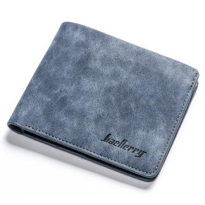 Baellerry Vintage Short PU Leather Bifold Wallet Credit Card Holder