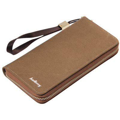 Baellerry Vintage Long Canvas Zipper Wallet Creative Credit Card Holder