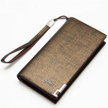 Baellerry Fashion Multi-function Large Capacity Zipper Hand Bag Business Long Wallet Credit Card Holder