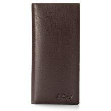 Baellerry Fashion Long Bifold Casual Ultra Thin PU Leather Wallet for Men