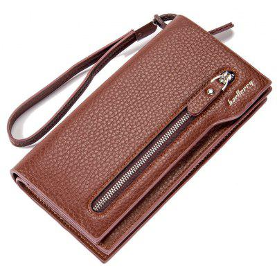 Fashion Multi-Function Men's Long Bussiness Wallet Large Capacity Hand Bag Credit Card Holder