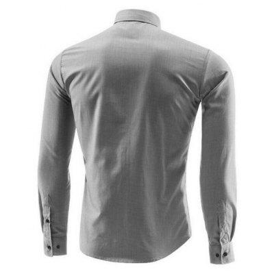 Men Striped Casual Long-Sleeved ShirtMens Shirts<br>Men Striped Casual Long-Sleeved Shirt<br><br>Collar: Turn-down Collar<br>Material: Polyester<br>Package Contents: 1x Shirt<br>Shirts Type: Casual Shirts<br>Sleeve Length: Full<br>Weight: 0.2300kg