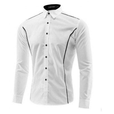 Men Striped Casual Long-Sleeved Shirt