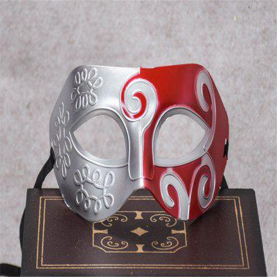 Buy Masquerade Party Mask Jazz Mask Prince Carved Mask Half Face Dance Masks RED for $1.28 in GearBest store