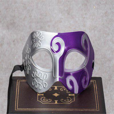 Buy Masquerade Party Mask Jazz Mask Prince Carved Mask Half Face Dance Masks PURPLE for $1.28 in GearBest store