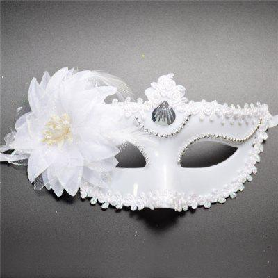 Buy Sexy Venetian Masquerade Masks Halloween Party Princess Lace Feather Ball Pattern Women Half Face Eye Mask Hot Sale WHITE for $2.42 in GearBest store