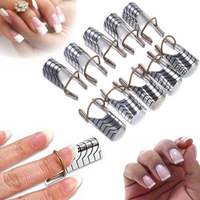 5PCS Women's Beauty Reusable UV Gel Acrylic Tips Nail Art Extension Guide Form Tool