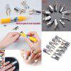 5PCS Women's Beauty Reusable UV Gel Acrylic Tips Nail Art Extension Guide Form Tool - SILVER