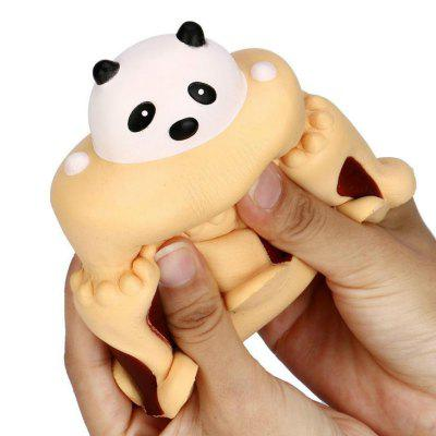 Jumbo Squishy Stress Relief Toy Feito por Enviromental PU Replica Cartoon Panda Head Cake