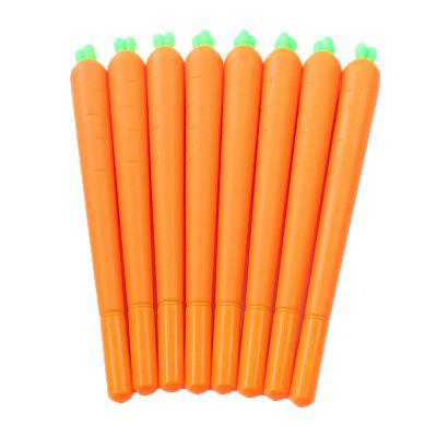 5PCS 0.5mm Creative Cartoon Carrot Neutral Black Signature Pen