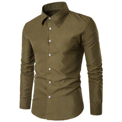 New Fashion Solid Color Business Casual Shirt