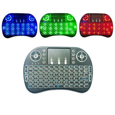 2.4GHz Wireless QWERTY Keyboard with Touchpad Mouse  -  ENGLISH  BLACK