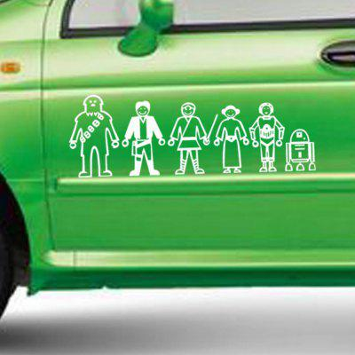 Six Cartoon People Figure Vinyl Wall Sticker Car Decals six crows