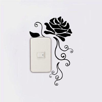 DSU Creative Rose Silhouette Vinyl Switch Sticker Natural Style Cartoon Flower Wall DecarWall Stickers<br>DSU Creative Rose Silhouette Vinyl Switch Sticker Natural Style Cartoon Flower Wall Decar<br><br>Art Style: Plane Wall Stickers, Toilet Stickers<br>Artists: Others<br>Brand: DSU<br>Color Scheme: Black<br>Effect Size (L x W): 25.8 x 16.5 cm<br>Function: Light Switch Stickers, Decorative Wall Sticker<br>Layout Size (L x W): 25.8 x 16.5 cm<br>Material: Vinyl(PVC)<br>Package Contents: 1 x Wall Sticker<br>Package size (L x W x H): 27.00 x 18.00 x 1.00 cm / 10.63 x 7.09 x 0.39 inches<br>Package weight: 0.0400 kg<br>Product size (L x W x H): 25.80 x 16.50 x 0.01 cm / 10.16 x 6.5 x 0 inches<br>Product weight: 0.0300 kg<br>Quantity: 1<br>Subjects: Fashion,Letter,Cute,Cartoon,Famous,Game<br>Suitable Space: Living Room,Bedroom,Hotel,Kids Room,Entry,Kitchen,Pathway,Door,Corridor,Hallway,Boys Room,Game Room<br>Type: Plane Wall Sticker