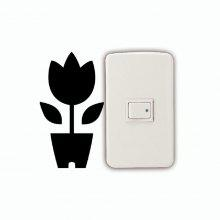 DSU Pot Plant Light Switch Wall Sticker coupons