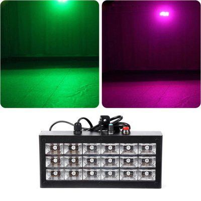 MITU SHOW 18 LEDs RGB 3 in 1 Sound Control Strobe Light for Show Disco E Lighting
