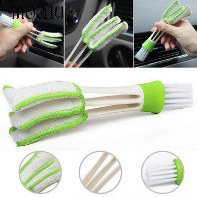 Prática ferramenta de lavagem doméstica Double Slider Car Air Conditioning Outlet Clean Brush Window Blinds Scrub do limpador de teclado