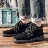 Retro Male Low Top Boots - BLACK