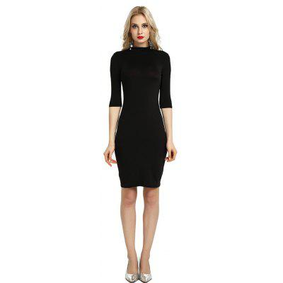 Summer Sexy Women Bandage Evening Cocktail Party Club Backless Mock Neck Sequin Bodycon DressBodycon Dresses<br>Summer Sexy Women Bandage Evening Cocktail Party Club Backless Mock Neck Sequin Bodycon Dress<br><br>Dresses Length: Knee-Length<br>Elasticity: Micro-elastic<br>Embellishment: Backless<br>Fabric Type: Broadcloth<br>Material: Cotton, Polyester, Nylon<br>Neckline: Round Collar<br>Package Contents: 1 x Dress<br>Pattern Type: Solid<br>Season: Spring, Winter, Fall, Summer<br>Silhouette: Sheath<br>Sleeve Length: 3/4 Length Sleeves<br>Style: Sexy &amp; Club<br>Waist: Natural<br>Weight: 0.3000kg<br>With Belt: No