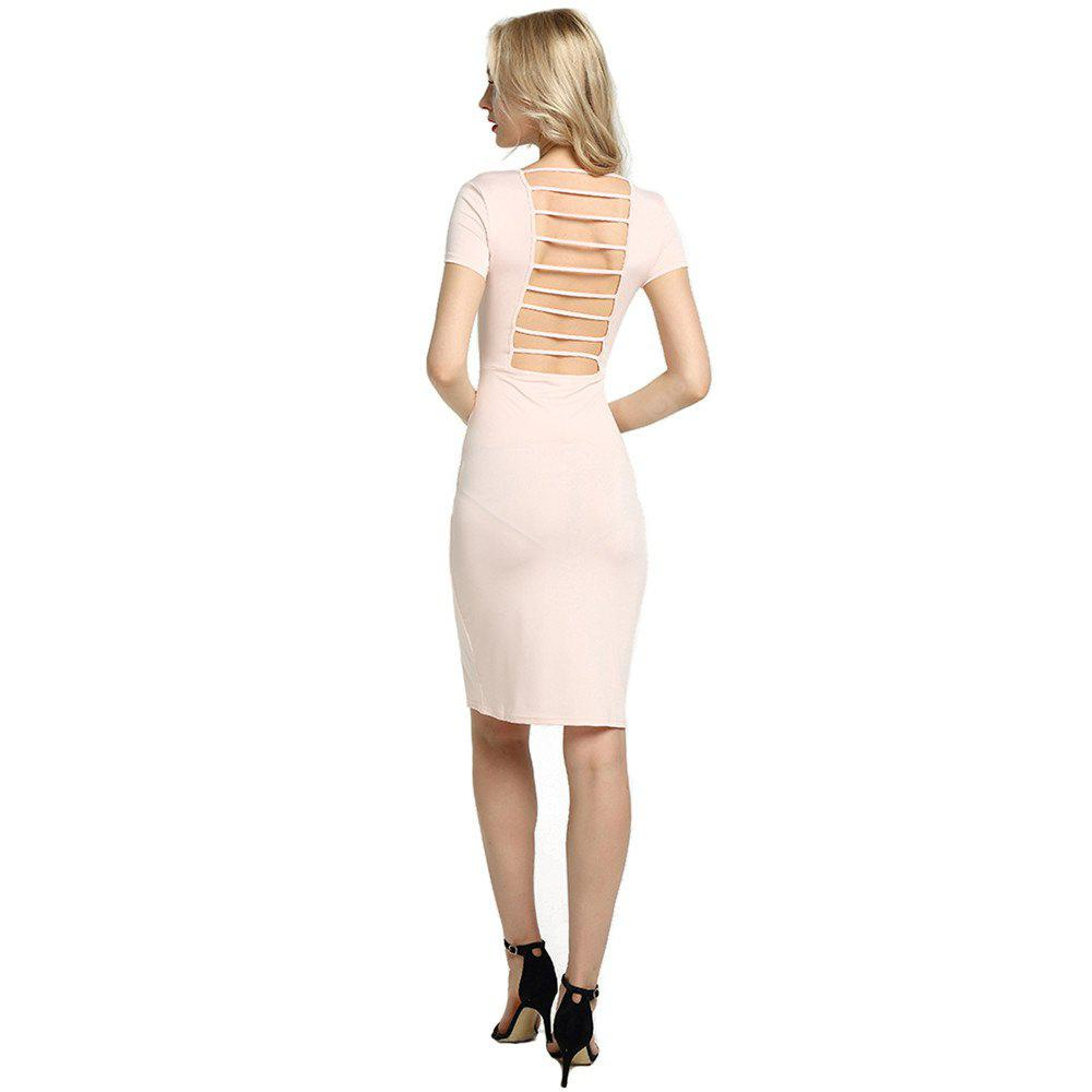 Womens Sexy Front Zip Up Contrast Club Cocktail Party Sheath Dress