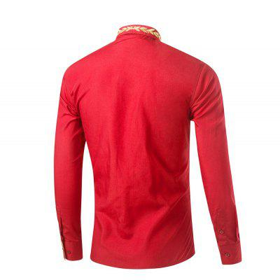 Mens New Fashion Neckline Embroidered Pure Color Long Sleeve Loose ShirtsMens Shirts<br>Mens New Fashion Neckline Embroidered Pure Color Long Sleeve Loose Shirts<br><br>Collar: Turn-down Collar<br>Fabric Type: Broadcloth<br>Material: Cotton, Polyester<br>Package Contents: 1x Shirt<br>Shirts Type: Casual Shirts<br>Sleeve Length: Full<br>Weight: 0.3600kg