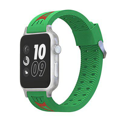 38MM Soft Silicone Replacement Sport Strap Rubber Wristband for Apple Watch Series 3/2/1
