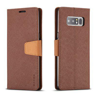 Cover Case For Samsung Galaxy Note 8 Multifunktional Canvas Design Flip PU Leather Wallet Case