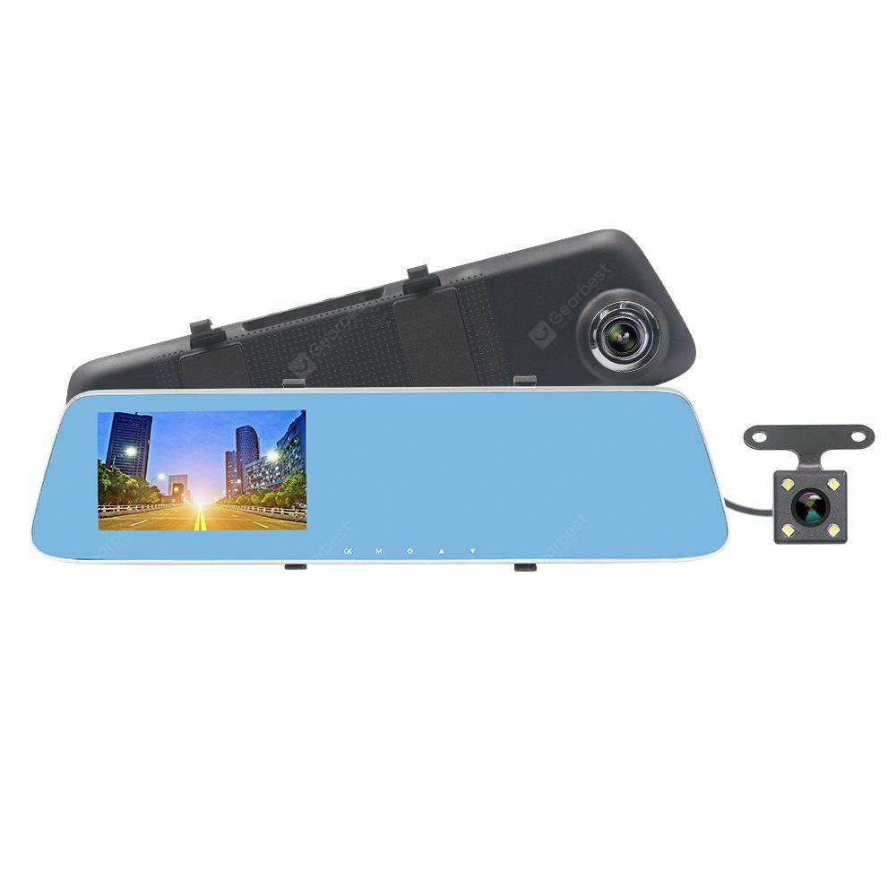 Image result for ZIQIAO JL-907T 4.3inch HD 1080p Starlight Night Vision Dual Cameras Car DVR & Rearview Mirror Car DVRr