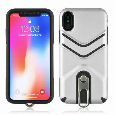 Custodia antiurto per cavalletto per iPhone X Custodia posteriore lussuosa per custodie