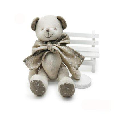 Baby Doll Beige Cotton Linen Plush Toy con estilo de oso
