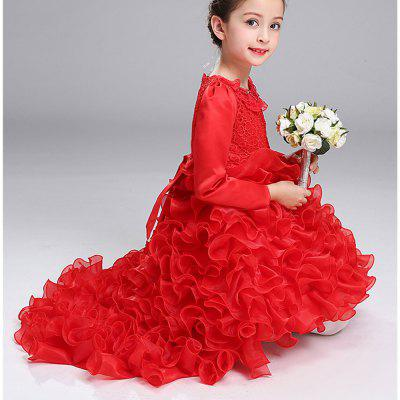 Autumn and Winter Long-Sleeved Princess Costume Dress Skirt Flower ChildGirls dresses<br>Autumn and Winter Long-Sleeved Princess Costume Dress Skirt Flower Child<br><br>Dresses Length: Mini<br>Material: Cotton<br>Package Contents: 1 x  Dress<br>Pattern Type: Bowknot<br>Silhouette: Ball Gown<br>Style: Fashion<br>Weight: 0.3000kg<br>With Belt: No