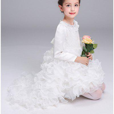 Autumn and Winter Long-Sleeved Princess Costume Dress Skirt Flower Child брюки спортивные guess guess gu460ebutr95