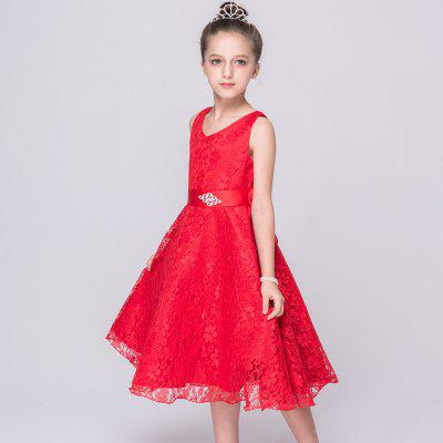 Children Costumes Girls Dress Lace SkirtGirls dresses<br>Children Costumes Girls Dress Lace Skirt<br><br>Dresses Length: Knee-Length<br>Material: Lace<br>Package Contents: 1 x Dress<br>Pattern Type: Print<br>Silhouette: Ball Gown<br>Style: Fashion<br>Weight: 0.4000kg<br>With Belt: Yes