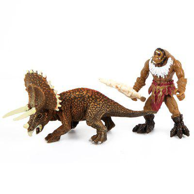 Wild Man War Triangle Plastic Model ToyMovies &amp; TV Action Figures<br>Wild Man War Triangle Plastic Model Toy<br><br>Completeness: Finished Goods<br>Gender: Boys,Girls,Kids<br>Materials: ABS<br>Package Contents: 2 x Model Toy<br>Package size: 32.00 x 10.00 x 14.50 cm / 12.6 x 3.94 x 5.71 inches<br>Package weight: 0.3900 kg<br>Product weight: 0.2900 kg<br>Stem From: Other<br>Theme: Animals