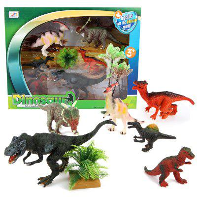 Dinosaur Forest Plastic Model Toy AMovies &amp; TV Action Figures<br>Dinosaur Forest Plastic Model Toy A<br><br>Completeness: Finished Goods<br>Gender: Boys,Girls,Kids<br>Materials: Plastic, ABS<br>Package Contents: 1 x Set of Toys<br>Package size: 36.00 x 5.00 x 28.00 cm / 14.17 x 1.97 x 11.02 inches<br>Package weight: 0.4900 kg<br>Product weight: 0.3900 kg<br>Stem From: Other<br>Theme: Animals