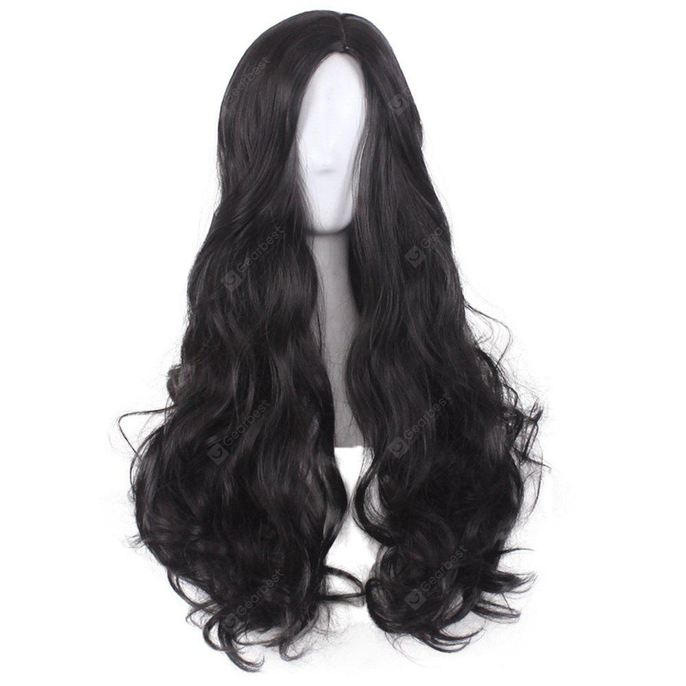 Женская мода Sexy Beautiful Long Black Curly Hair Wig