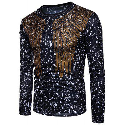 Abstract Wings Break A Printed Long Sleeved T-Shirt