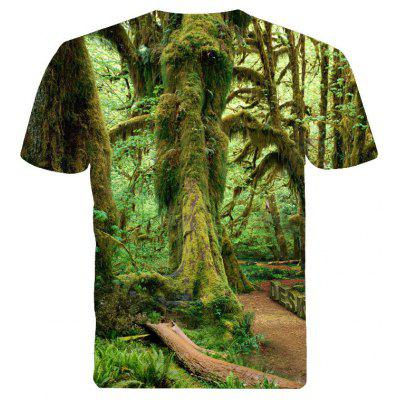 3D Forest Print T-ShirtMens Short Sleeve Tees<br>3D Forest Print T-Shirt<br><br>Collar: Round Neck<br>Material: Cotton, Polyester<br>Package Contents: 1 x T - shirt<br>Pattern Type: Others<br>Sleeve Length: Short Sleeves<br>Style: Casual<br>Weight: 0.2500kg