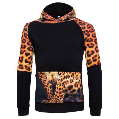 3D Personality Leopard Hoodies