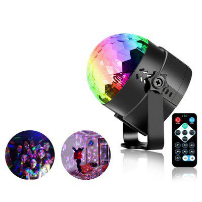 Remote Crystal Rotating Ball LED RGB Stage Lighting KTV bar Kids dancing birthday Holiday Xmas Halloween party lights