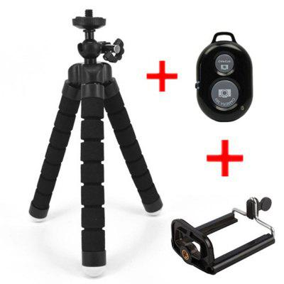 Flexible Octopus Tripod Bracket Selfie Stand Mount + Bluetooth Remote Shutter